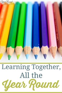 Learning Together, All the Year Round  #Learning #Help #Homeschooling -