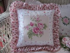 beautiful vintage pillows | Pretty Rose Pictures and Pillows for Pink Saturday