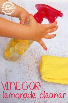 DIY vineagar lemonade cleaner