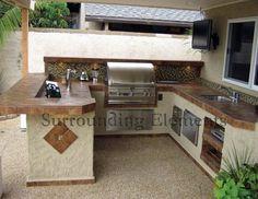 outdoor kitchen Outdoor Kitchen Plans, Outdoor Kitchen Design, Outdoor Kitchens, Backyard Kitchen, Backyard Bbq, Outdoor Cooking, Outdoor Entertaining, Outdoor Spaces, Orange County