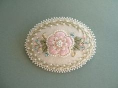 Beaded Embroidery Felt Pin