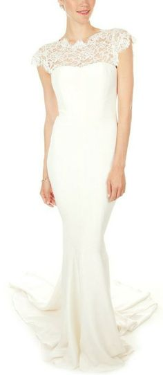 Nicole Miller Lauren Bridal Gown. Simple yet stunning.