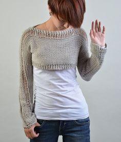 Suéter de punto a mano poco encogimiento de hombros por MaxMelody