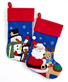 Holiday Lane Christmas Stockings, Snowman & Santa. Holiday Lane Christmas Stockings, Snowman & Santa Home - Misc Holiday Lane (Clearance). Price: $7.50