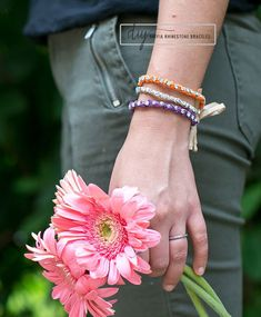 DIY Raffia Rhinestone Bracelet  ☀CQ #jewelry #crafts #how-to #DIY