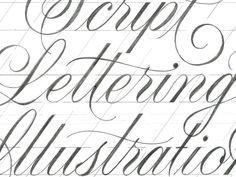 script lettering consistency