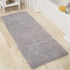 Buy Lavish Home Memory Foam Shag Bath Mat 2-Feet by 5-Feet- Grey - Reviewhomkit.com ✓ FREE DELIVERY possible on eligible purchases