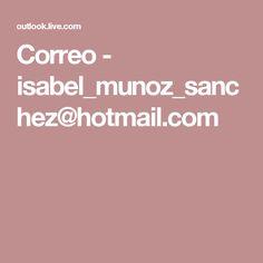 Correo - isabel_munoz_sanchez@hotmail.com