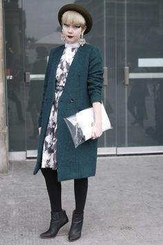 SWOONING   Street Style at London Fashion Week / Photo by Anthea Simms