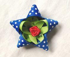 MyGooseyGoosey: Pretty Blue Polka Dot Hair Bow