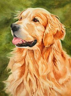 Toby by MarySue Krueger Watercolor ~ 16 x 12
