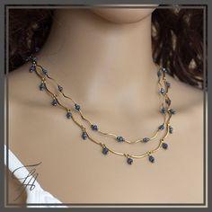 Strand Necklace, Gemstone Necklace, Necklace Set, Beaded Necklace, Gold Necklace, Gold Filled Jewelry, Gold Jewelry, Beaded Jewelry, Jewelry Necklaces