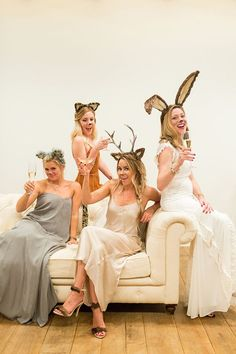 Squad goals:Lauren Conrad and her friends dress up at the chicest party animals around.