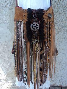 Handmade Boho Cross Body Bag Hippie Gypsy Western Tribal Purse Some Suede tmyers #Handmade #MessengerCrossBody