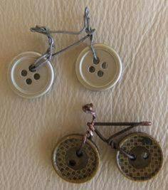 Vélo, bicyclette en boutons
