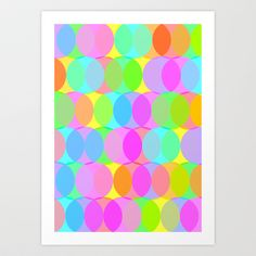 Circle Bright Art Print by Maggie Martin Art - $17.00