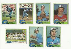 #Vintage 1981 #topps #baseball cards – atlanta braves – mlb,  View more on the LINK: 	http://www.zeppy.io/product/gb/2/322374513282/
