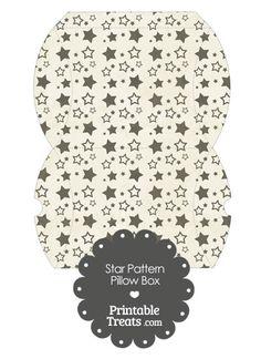 Large Vintage Black Star Pattern Pillow Box from PrintableTreats.com