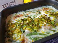 Gröna fisken – fisk – viktväktar recept – smartpoints – torsk – torskrygg – viktäktarna – nadjas kitchen – lättlagad fisk – lättlagat – snabblagat – grädde – purjolök – haricots verts – paprika Sambal Oelek, Quorn, Halloumi, Jambalaya, Camping Meals, Chorizo, Lasagna, Mashed Potatoes, Bacon