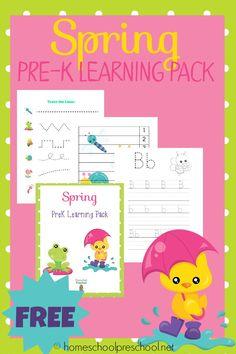 Free Printable Preschool Learning Pack