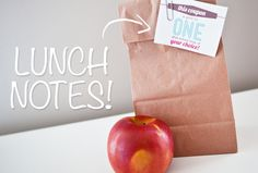 Free Lunch Note Printables