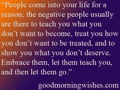 Negative people are lessons