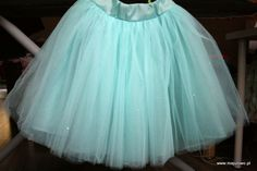 aqua tulle skirt with crystals, frozen party
