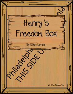 Henry's Freedom Box Higher Level Thinking Task Cards from TheMasonJar on TeachersNotebook.com (4 pages)