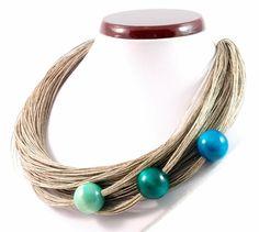 Linen necklace von Nor Art auf DaWanda.com