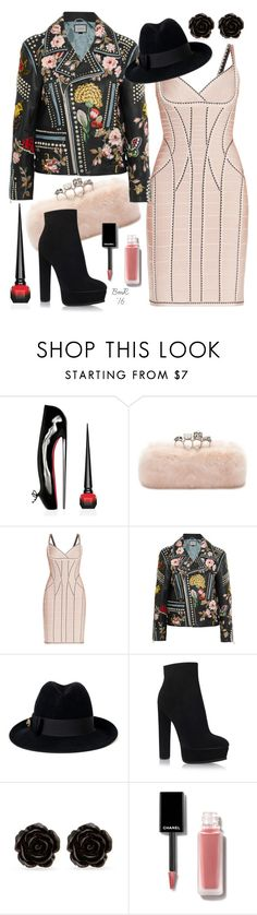 """""""Botanique"""" by barbmama ❤ liked on Polyvore featuring Christian Louboutin, Alexander McQueen, Hervé Léger, Gucci, Casadei and Erica Lyons"""