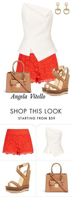 """Untitled #765"" by angela-vitello on Polyvore featuring City Chic, Roland Mouret, Christian Louboutin, Michael Kors and Gucci"