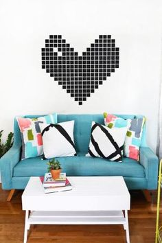 DIY abstract pillows—so cute! (click through for tutorial) by socorro