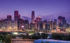 Beijing Skyline by Sarmu, via Flickr