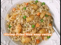 How To Make Shrimp Fried Rice stir fry at home. We use a big electric skillet but you can also prepare Shrimp Fried Rice in a skillet on the stovetop. Use brown rice for added fiber to this rice meal. Get the full printable simple easy recipe. Shrimp Fried Rice Recipe Video, Takeout Fried Rice Recipe, Chinese Shrimp Fried Rice, Fried Rice Recipe Chinese, Shrimp And Rice Recipes, Brown Rice Recipes, Easy Rice Recipes, Pf Changs Fried Rice Recipe, House Fried Rice Recipe