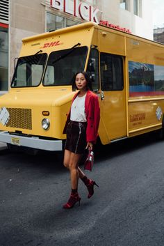 Wondering if you will need to suit hosiery towards the the majority of your desired look? You've found the right place, we've got expert ideas right away. Hue, Doc Martens Outfit, Dressy Casual Outfits, Song Of Style, Estilo Blogger, Socks And Heels, Red Blazer, Colorful Socks, Ladies Dress Design