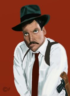 Stacy Keach as Mike Hammer (by John Fisher) Funny Caricatures, Celebrity Caricatures, Detective, Haha Funny, Hilarious, Fisher, Stacy Keach, Celebs, Celebrities