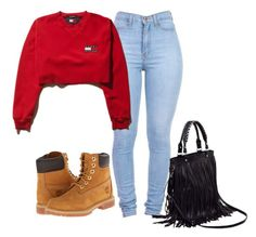 """""""Untitled #141"""" by dashayajones ❤ liked on Polyvore featuring Timberland"""