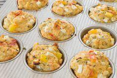 Savory Summer Tomato, Zucchini, Corn & Feta Muffins Feta - sub vegan chz