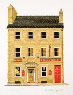 Ring O'Bells, King Street.Watercolour. Image size: 30 x 20cms portrait.