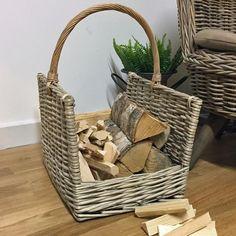 Rustic rectangle Log Holder Log Carrier, Log Holder, Wood Burner, Storage Solutions, Rustic, Baskets, Woodburning, Fireplaces