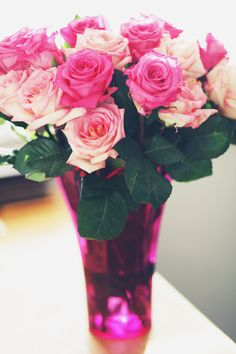 Pink roses are MY FAVORITE. Pink is my color, and roses are romantic. To my sweet sweet boyfriend... take this as a hint;)