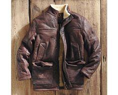 Men's Long Shearling Leather Coat - Timberland