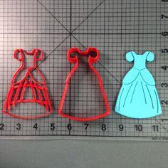 Cinderella Dress Cookie Cutter and Stamp
