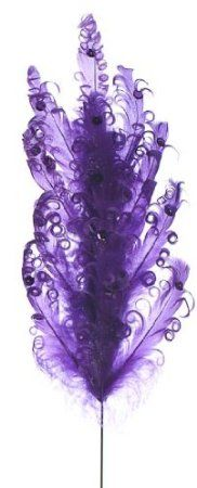 Amazon.com: Package of 12- Purple Curly Feather Sprays For Centerpieces, Weddings and More: Arts, Crafts & Sewing