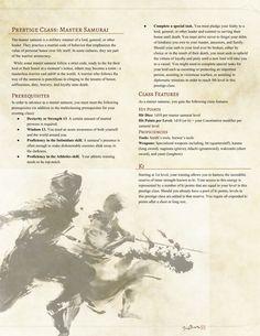 Master Samurai Prestige Class by MessiahMushroom