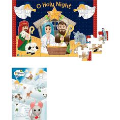 JUMBO FLOOR PUZZLE-Two sided for double the fun. Nativity on one side and Winter Wonderland on the other. Available at Leaflet Missal