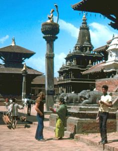 Walking the streets of Kathmandu (I recently located some scanned images from my travels in the Himalayas and Nepal)
