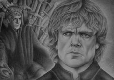 Tyrion Lannister and Joffrey Baratheon from Game of Thrones in graphite