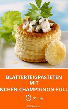 Blätterteigpasteten mit Hähnchen-Champignon-Füllung - smarter - Zeit: 35 Min. | eatsmarter.de