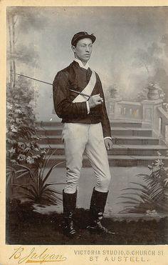 Victorian studio photo of Jockey.